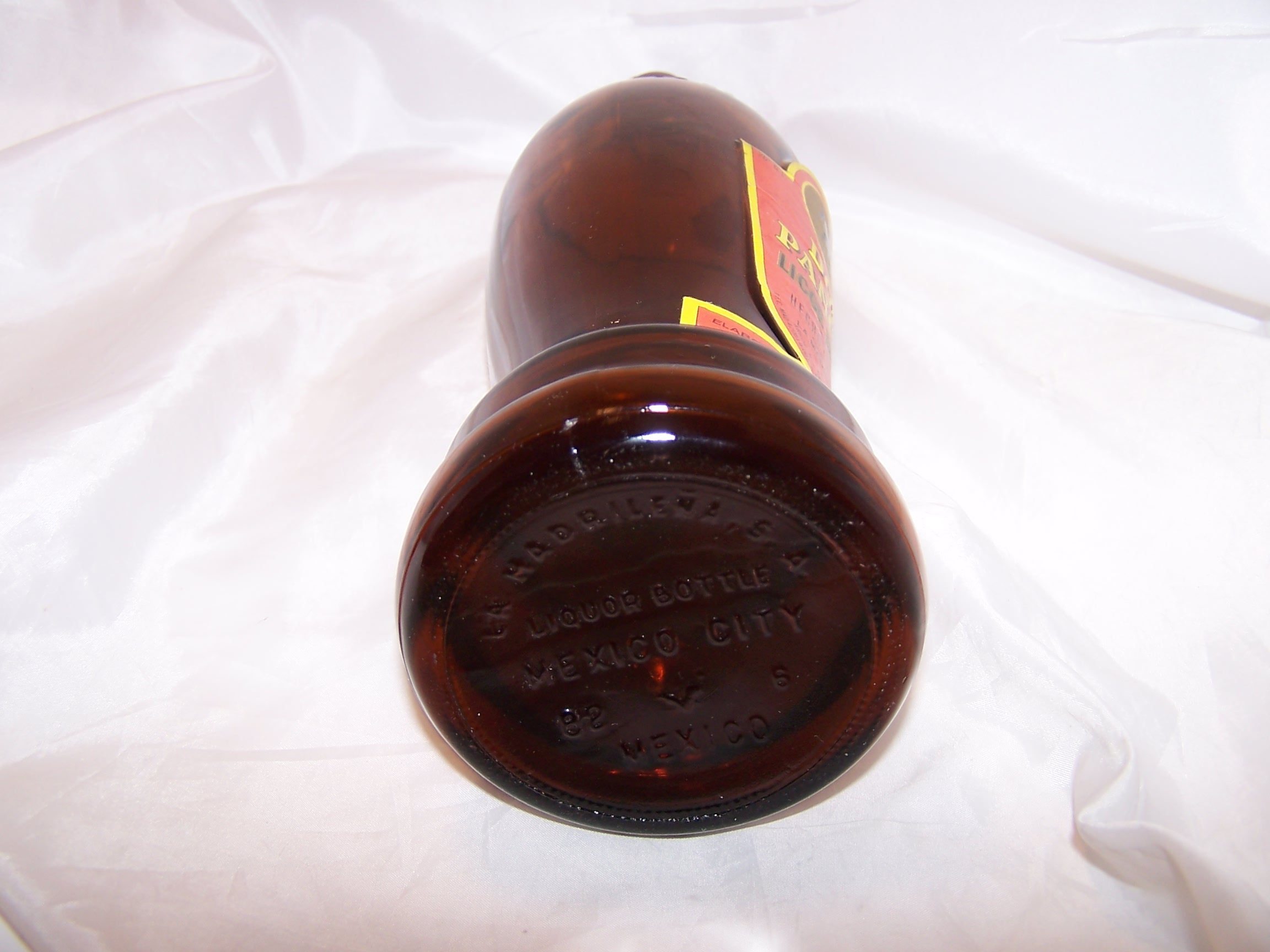 Image 5 of Don Pancho Licor de Cafe Brown Bottle, Mexico, Large, Empty