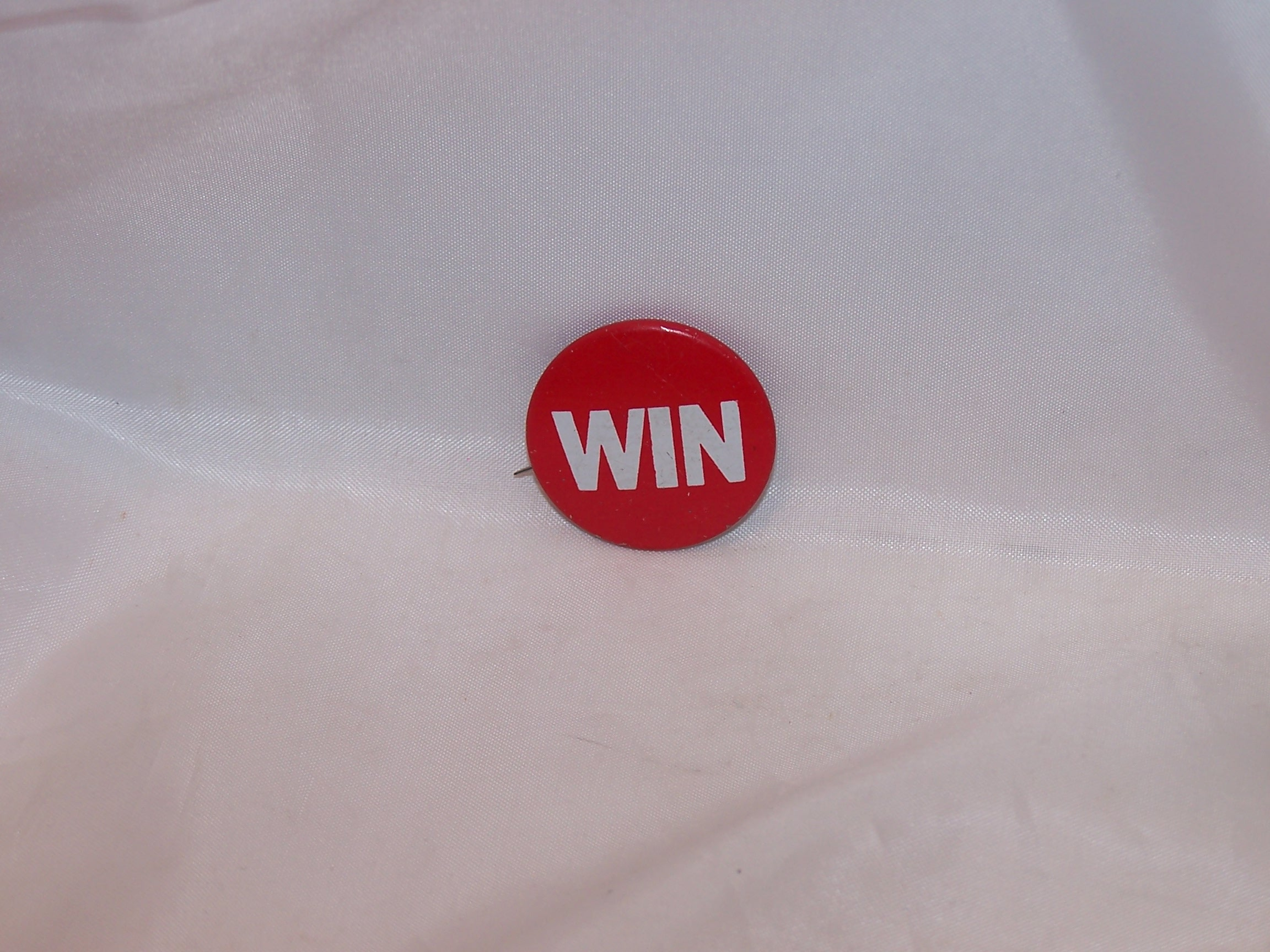 WIN Pinback Button, Original, President Ford Promotion