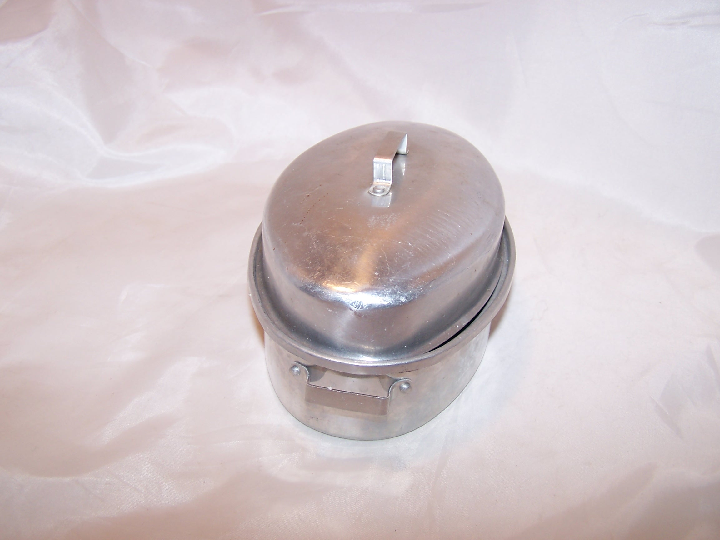Image 1 of Toy Roaster w Lid, Aluminum, Vintage Childs Toy