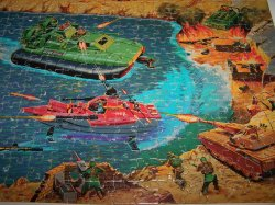 GI Joe Puzzle, Battle 4 Mural Puzzle, 221 Pieces, 1985