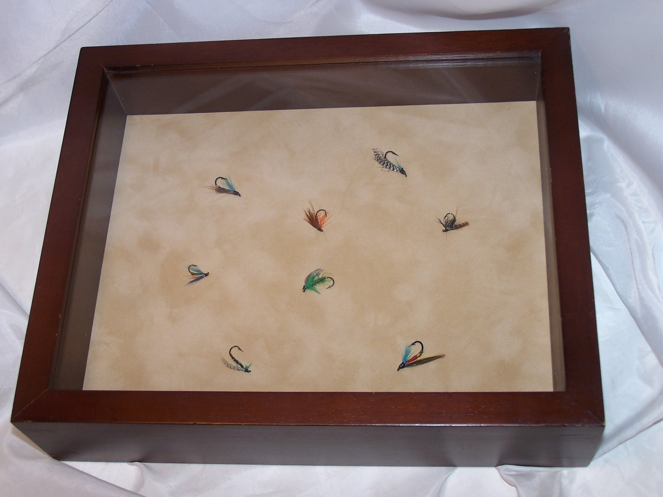 Fly Fishing Lures In Display Frame