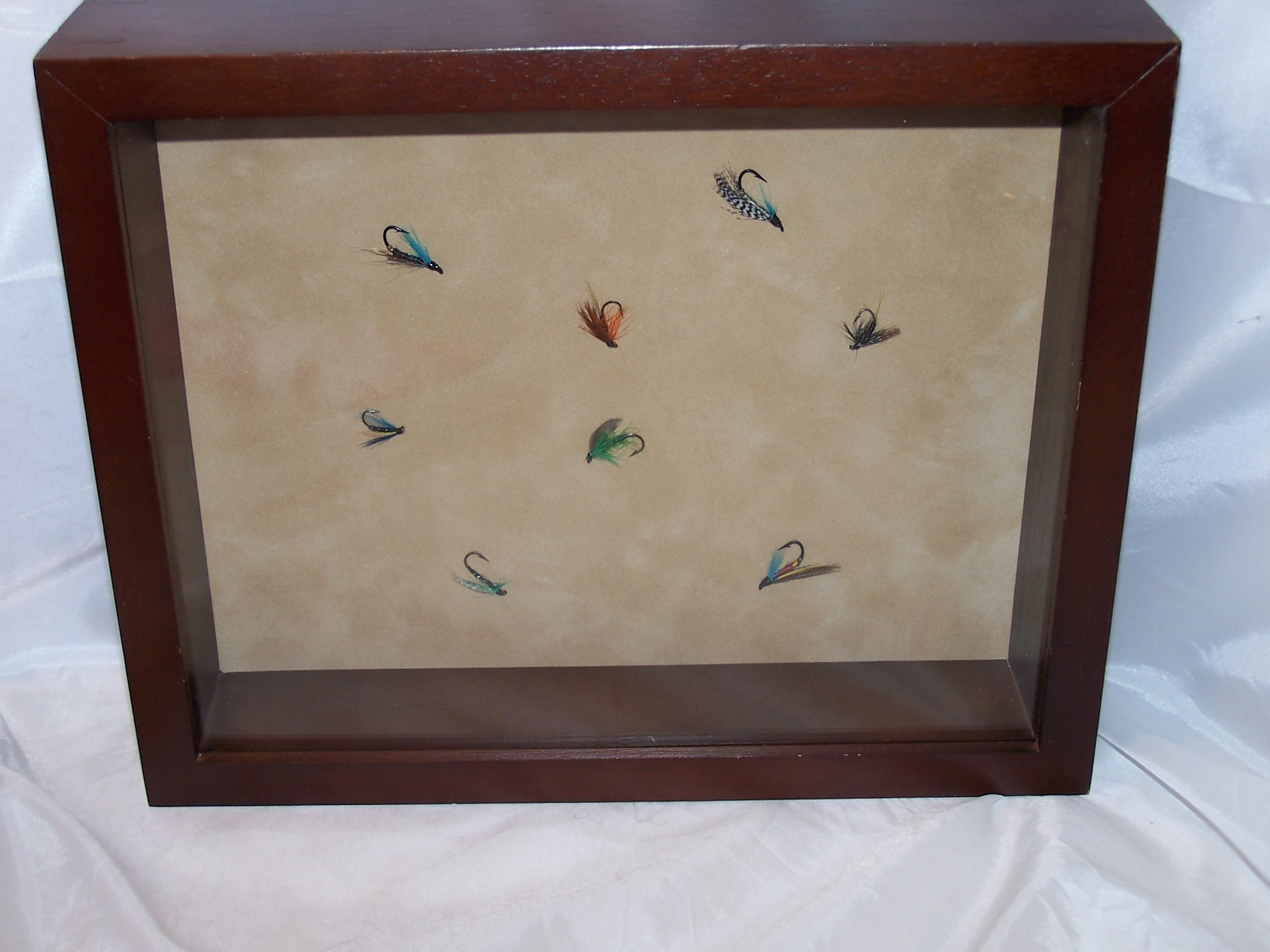 Image 1 of Fly Fishing Lures in Display Frame