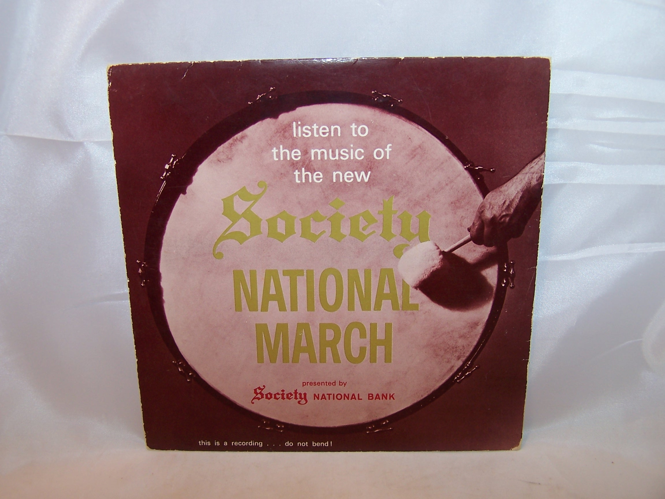 Image 1 of Society National Bank Music Record, Advertising, Record Sleeve Only