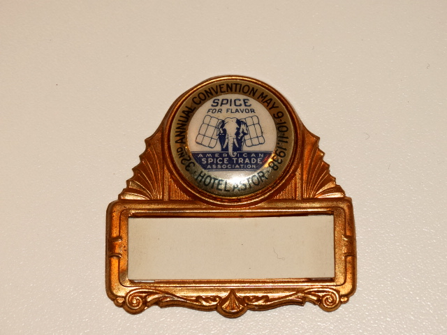 Spice Convention Pinback, 1938, Original