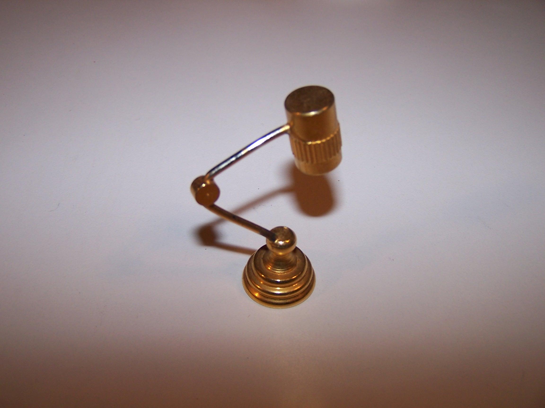Image 2 of Dollhouse Brass Mod Desk Lamp, Miniature