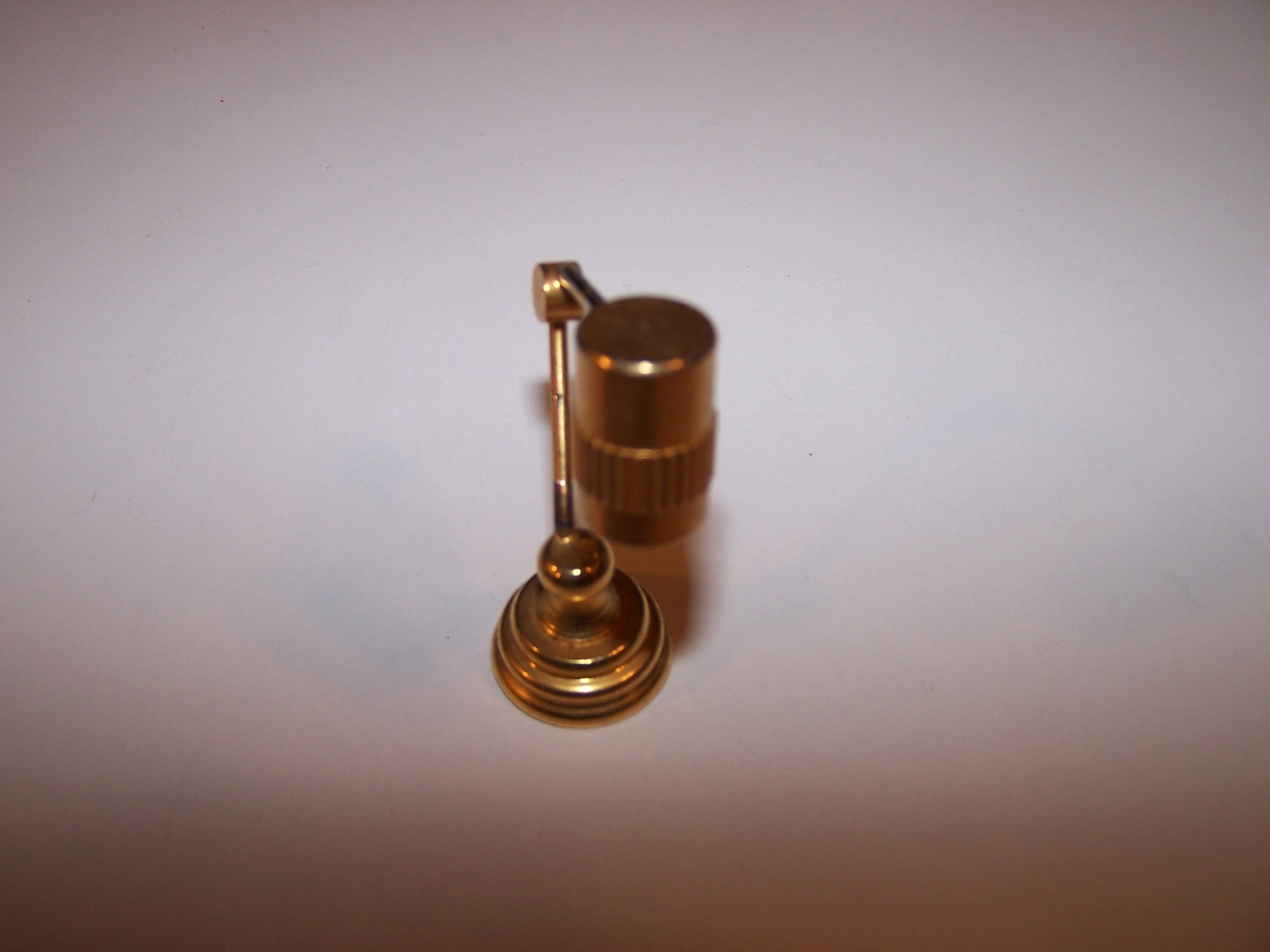 Image 3 of Dollhouse Brass Mod Desk Lamp, Miniature