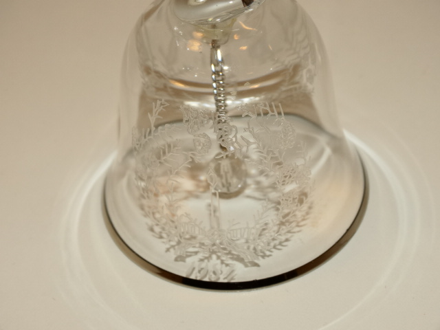 Image 1 of Lenox Crystal Bell w Wreath and Candle, 1984