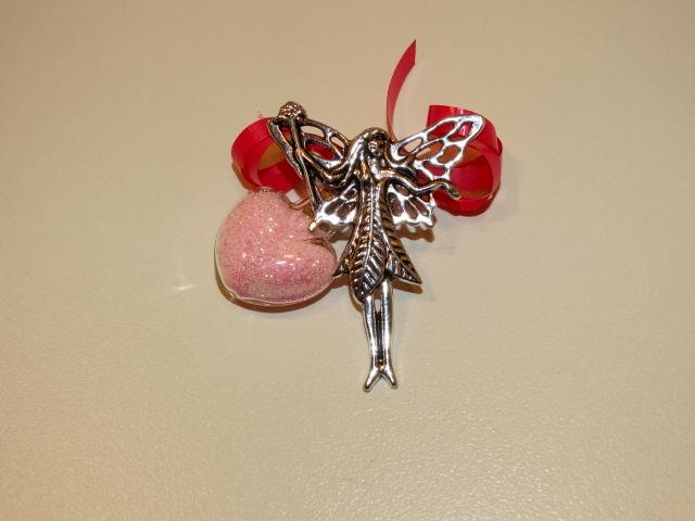 Fairy Dust, Pink, w Fairy, Heart Shaped Bottle