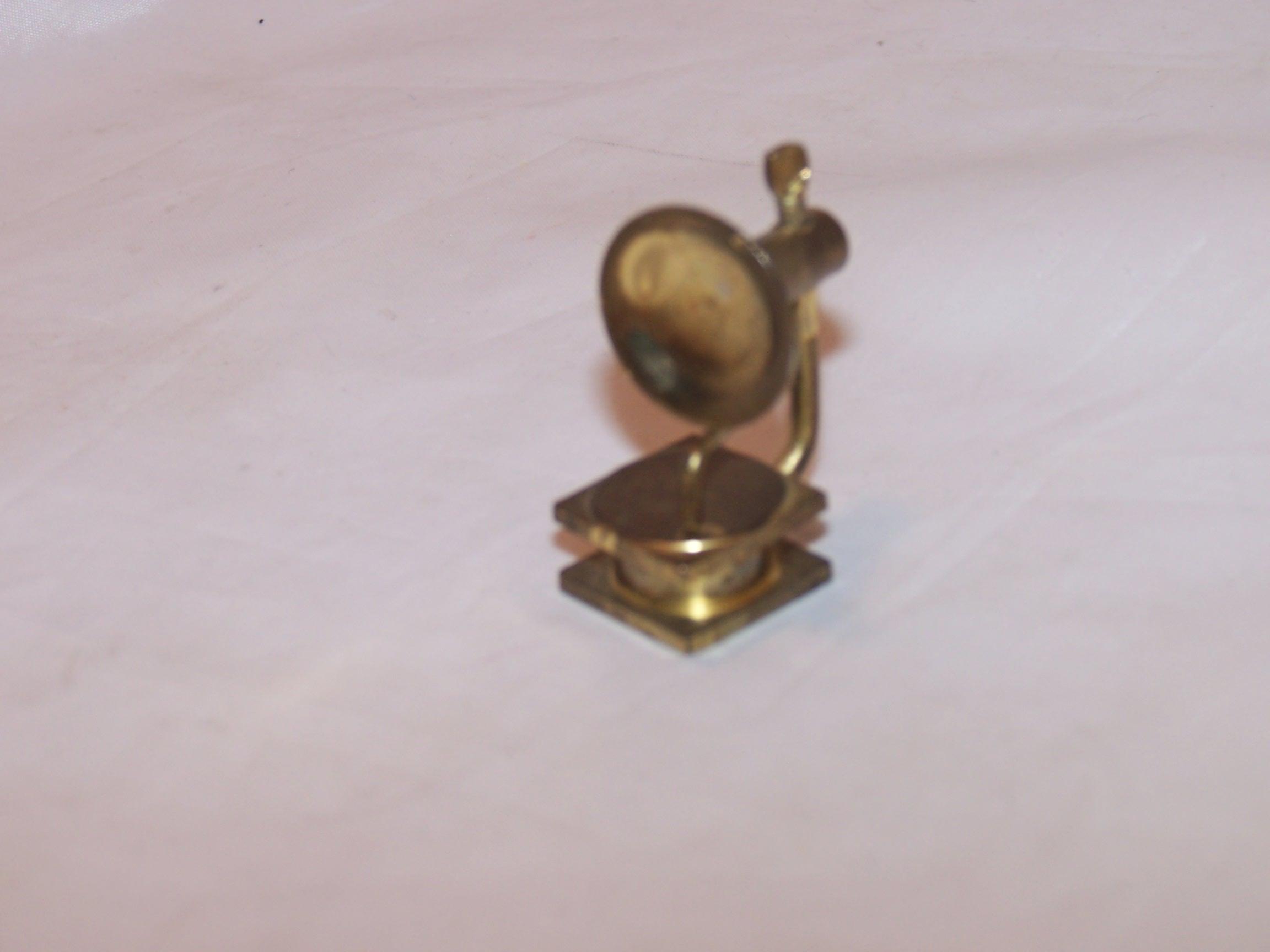 Dollhouse Brass Victrola