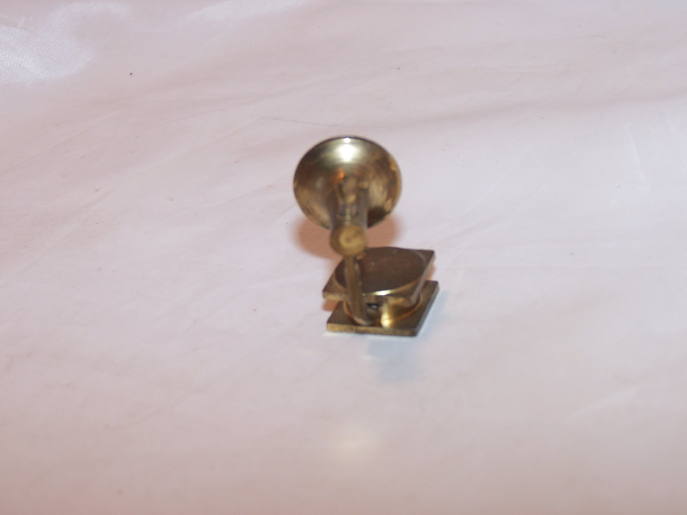 Image 1 of Dollhouse Brass Victrola Record Player, Miniature