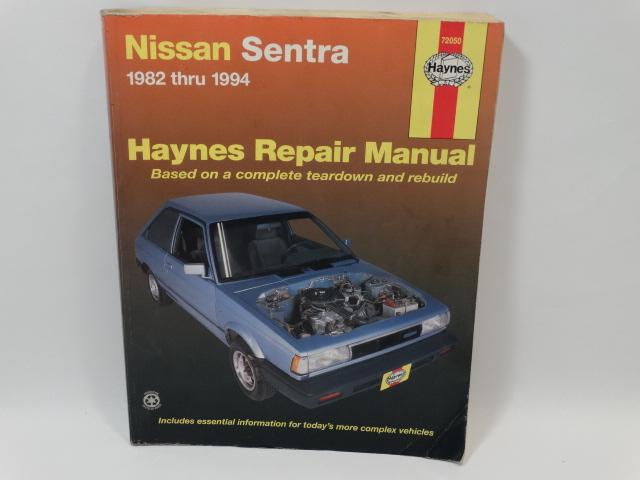 haynes nissan sentra 1982 to 94 repair manual rh thecuriousphoenix com nissan sentra repair manual nissan maxima repair manual 2008