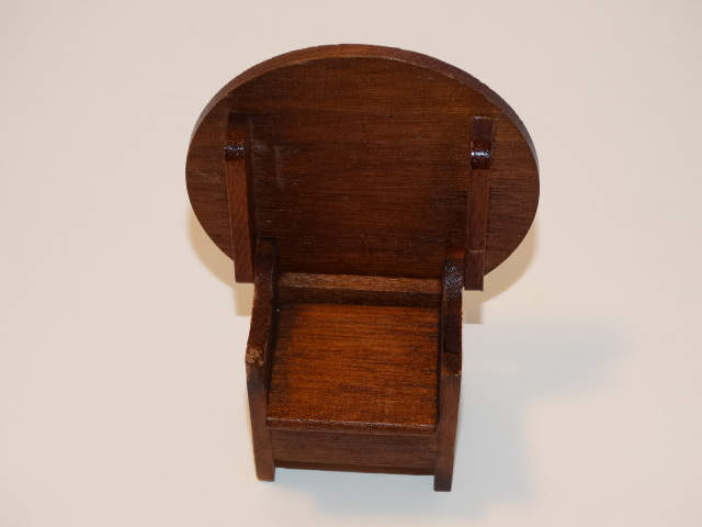 Image 2 of Dollhouse Flip Top Table, Stool, Wood