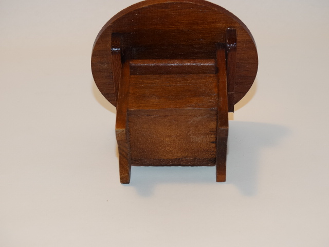 Image 6 of Dollhouse Flip Top Table, Stool, Wood