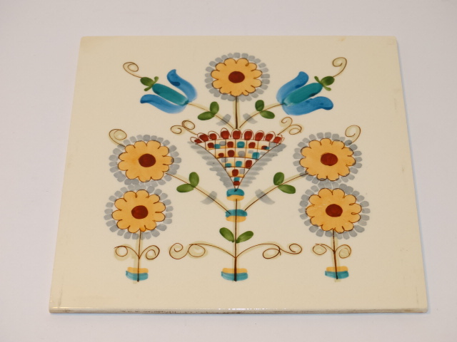 German Floral Ceramic Tile