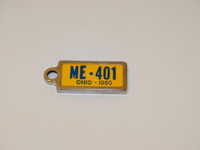 License Plate Key Chain, 1960, ME 401