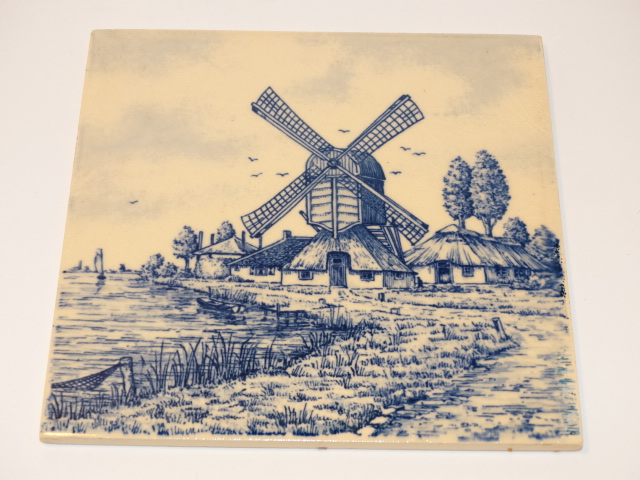 Sphinx Ceramic Tile Blue Windmill Holland