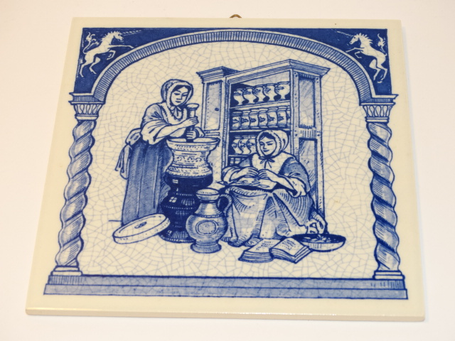 Ceramic Tile, Pharmacist Gives Aid Reproduction Tile