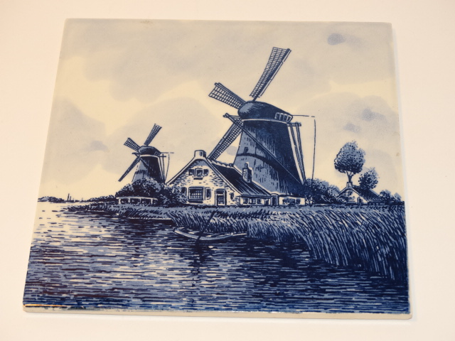 Stormy Blue Windmill Tile