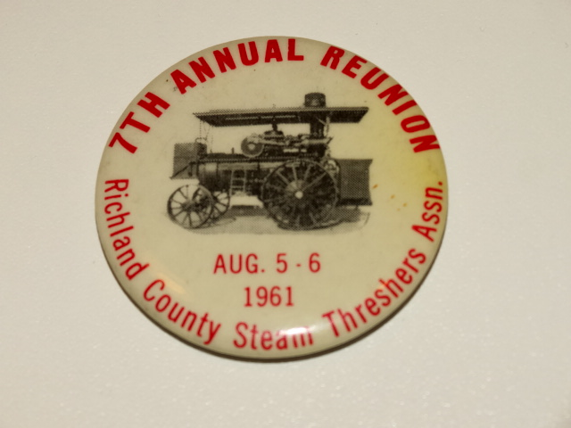 Steam Threshers Reunion Pinback, 1961, Original