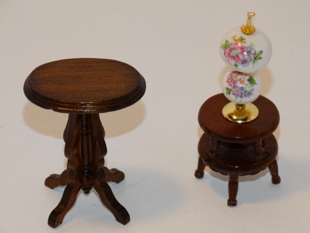 Image 1 of Dollhouse Gone With the Wind Lamp, Tables