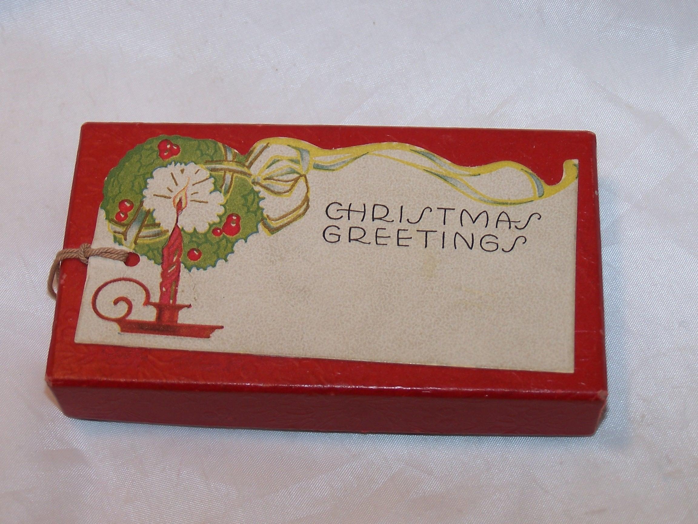 Christmas Tags Box, Vintage