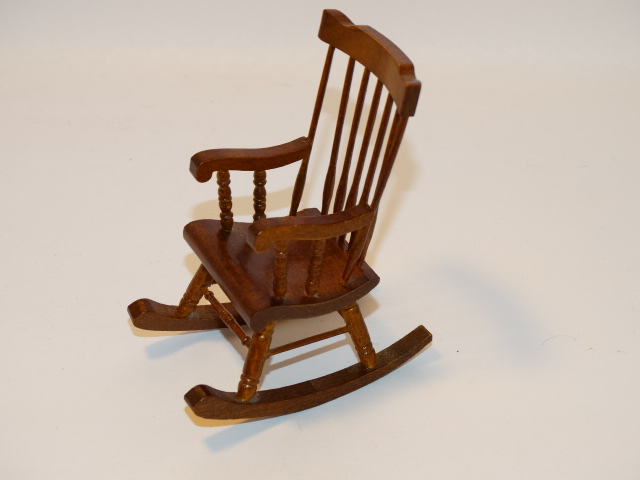 Image 2 of Dollhouse Rocking Chair, Rug, Fireplace Tools