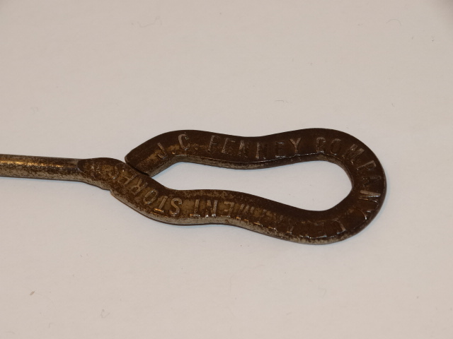 Image 3 of Button Hook, JC Penney, Metal, Antique