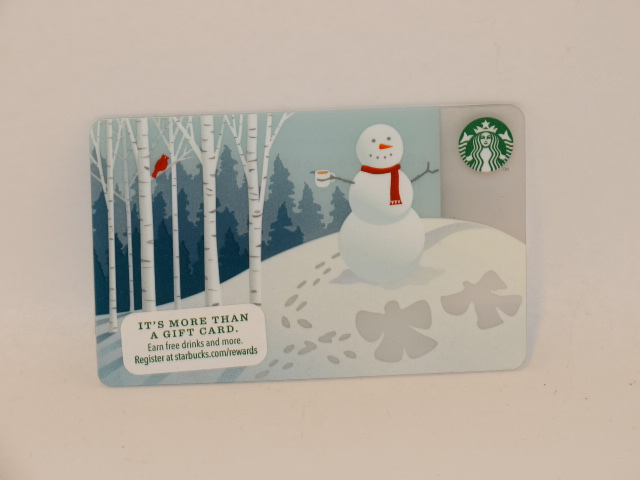 '.Starbucks Snowman Card.'