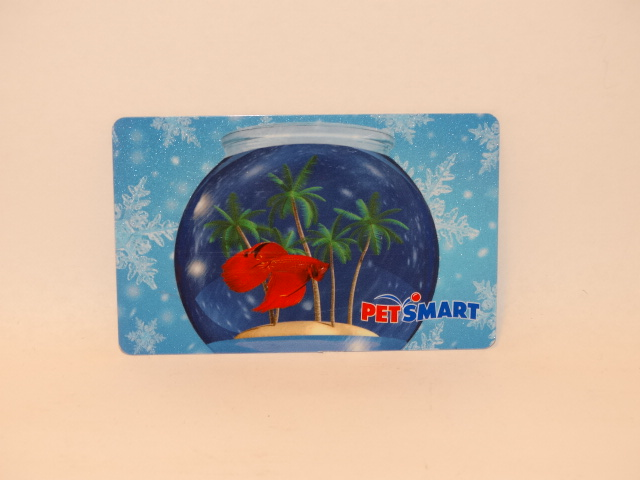 Petsmart gift card betta fish in bowl zero balance for Petsmart fish bowl