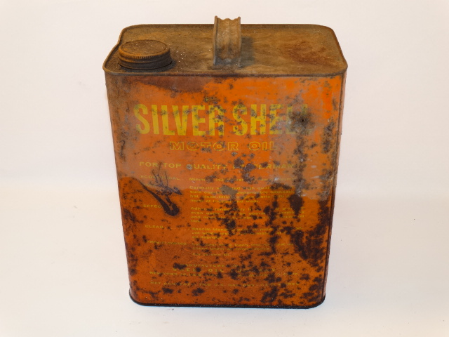 Image 2 of Oil Can Silver Shell, Red Yellow Farm Fresh