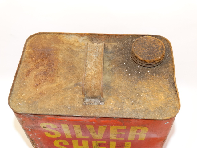 Image 4 of Oil Can Silver Shell, Red Yellow Farm Fresh