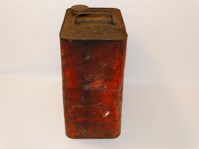 Image 1 of Oil Can Silver Shell, Red Yellow As Found