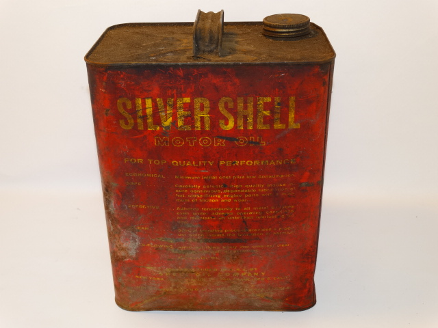 Image 2 of Oil Can Silver Shell, Red Yellow As Found