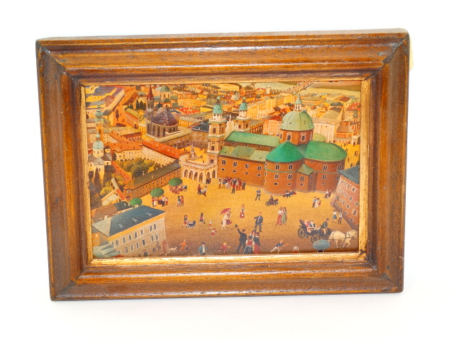 Lithograph Salzburg Germany, Framed