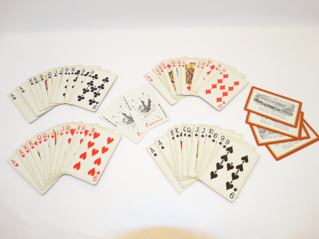 Playing Cards Pinochle Deck, Complete, Welles Die and Engineering