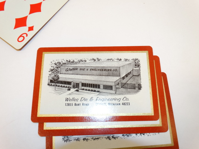 Playing Cards Pinochle Deck, Incomplete, Welles Die and Engineering