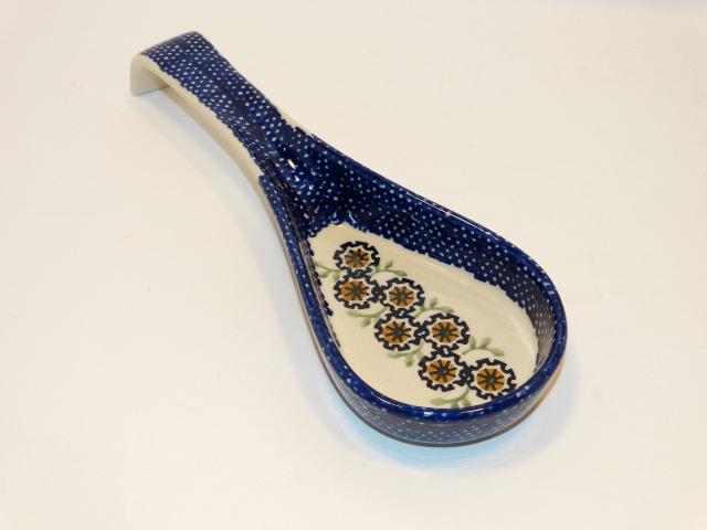 Spoon Rest, Flowers Ceramic, Polish Poland