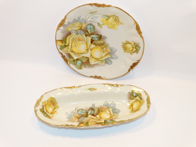 Prov SXE ES Germany Two Bowl Serving Set, Yellow Roses
