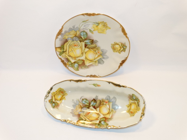 Image 6 of Prov SXE ES Germany Two Bowl Serving Set, Yellow Roses