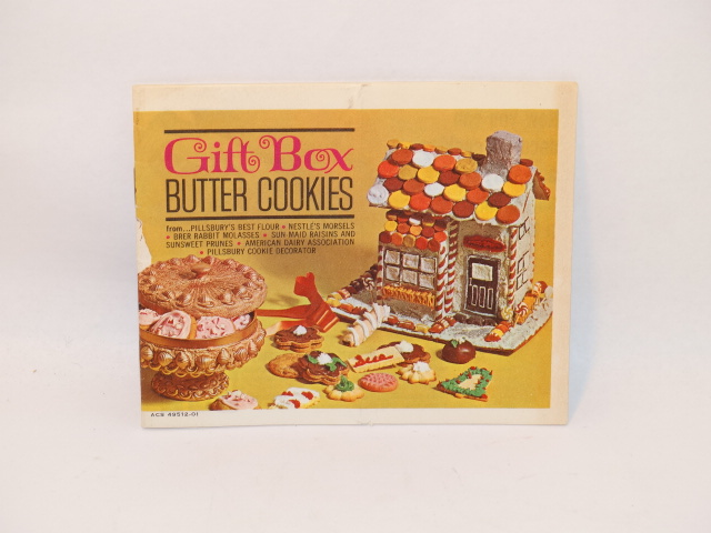 Cookbook Gift Box Butter Cookies, Vintage