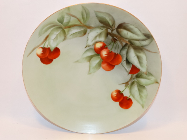Geo H Bowman Bavaria Cherry Design Plate, Signed