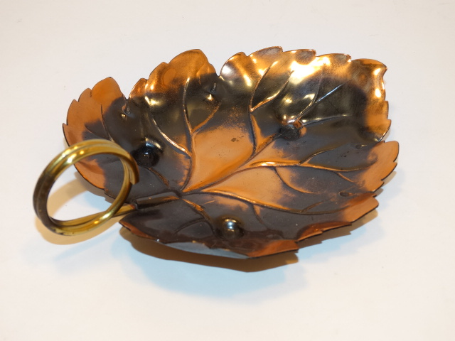 Copper Leaf Dish