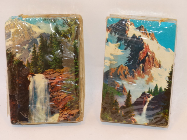 '.Mountain Scene Playing Cards.'
