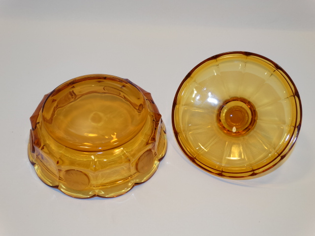 Image 5 of Coin Glass Amber Covered Dish Fostoria