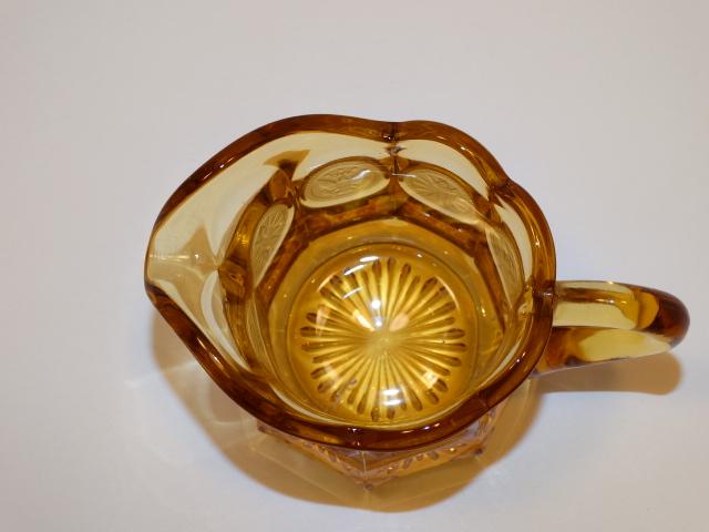 Image 4 of Coin Glass Amber Creamer Fostoria