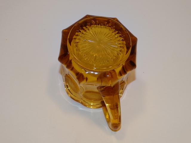 Image 5 of Coin Glass Amber Creamer Fostoria