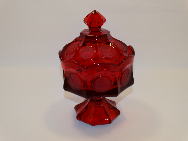 Coin Glass Ruby Wedding Bowl Fostoria