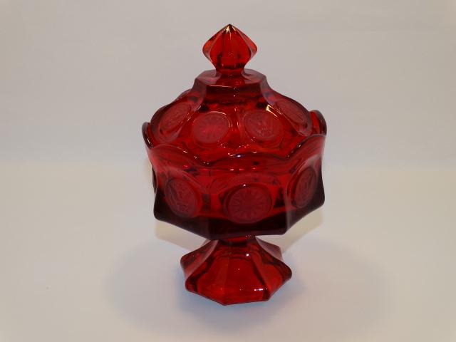 Coin Glass Ruby Wedding Bowl Fostoria