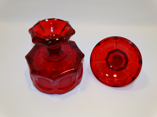 Image 4 of Coin Glass Ruby Wedding Bowl Fostoria