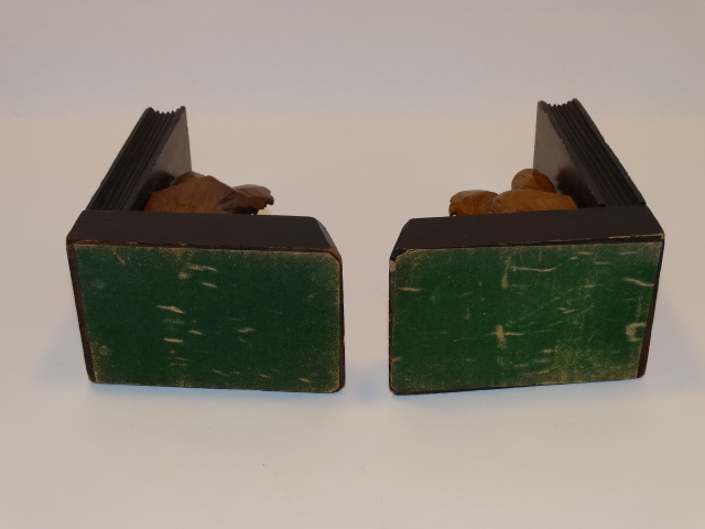 Image 4 of Bookend Set Terrier Dog Hand Carved Wood